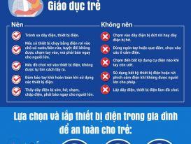 EVN khuyến cáo về an toàn điện cho trẻ nhỏ