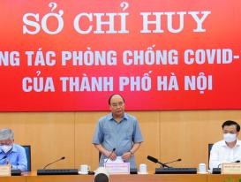 Chủ tịch nước: Hà Nội phải thực hiện hiệu quả giãn cách xã hội