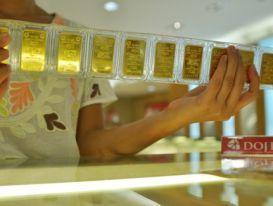 Giá vàng miếng trong nước tăng cả trăm nghìn đồng