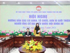 Hà Nội dự kiến giới thiệu 59 người ứng cử đại biểu Quốc hội khóa XV