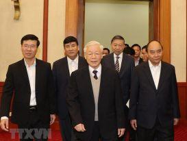 Gặp mặt thân mật các nguyên lãnh đạo không tái cử khóa XIII