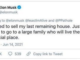 Elon Musk quyết định bán ngôi nhà cuối cùng
