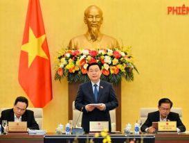 Chủ tịch Quốc hội Vương Đình Huệ chủ trì Phiên họp 55 của UBTVQH