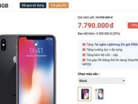 iPhone X giá chỉ còn 7,7 triệu đồng