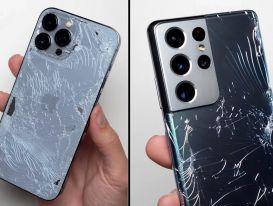 iPhone 13 Pro Max thua Galaxy S21 Ultra trong bài thử độ bền
