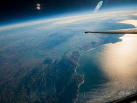 Hình ảnh Trái Đất được máy bay do thám Mỹ chụp từ rìa vũ trụ